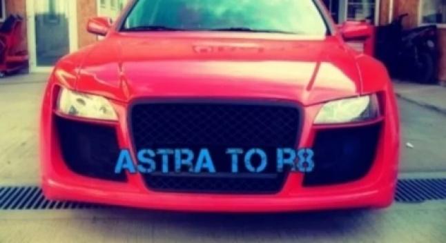 Opel Astra-ს მფლობელმა სცადა, თავის მანქანა Audi R8-სთვის დაემსგავსებინა
