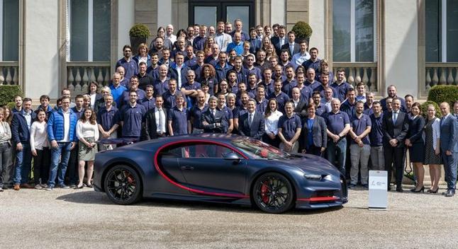 Bugatti-მ მე-100 Chiron-ი გამოუშვა